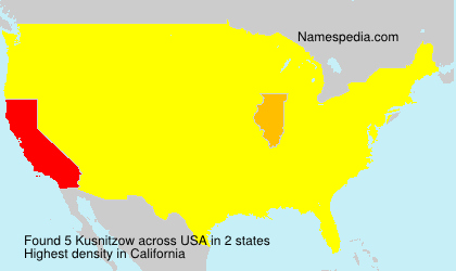 Surname Kusnitzow in USA