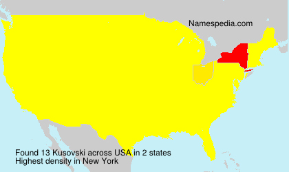 Surname Kusovski in USA