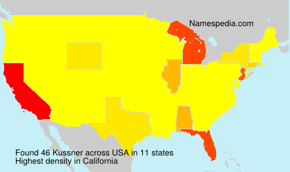 Surname Kussner in USA