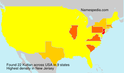 Surname Kuttan in USA