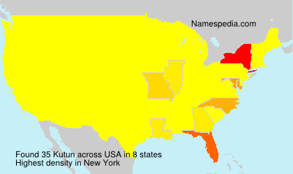 Surname Kutun in USA
