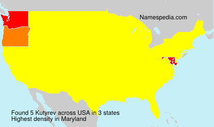 Surname Kutyrev in USA