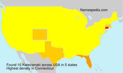 Surname Kwiecienski in USA