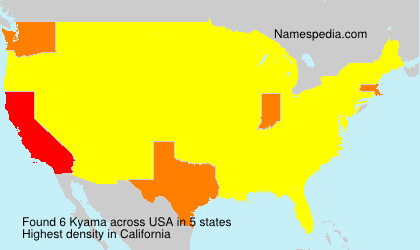 Surname Kyama in USA