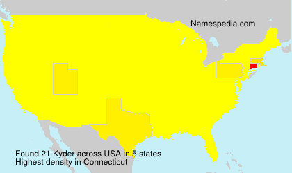 Surname Kyder in USA