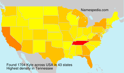 Surname Kyte in USA