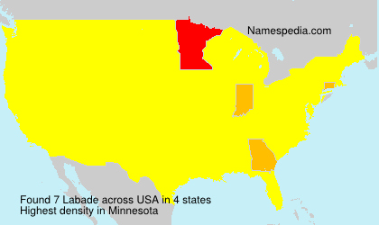 Surname Labade in USA