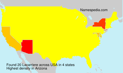 Surname Lacarriere in USA
