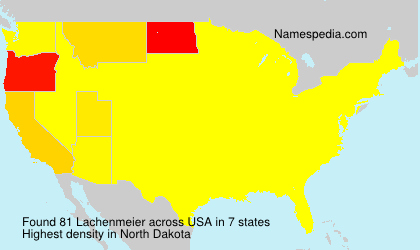 Surname Lachenmeier in USA