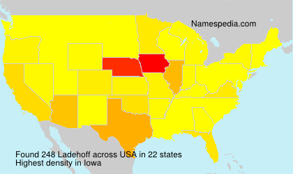 Surname Ladehoff in USA