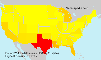 Surname Ladell in USA