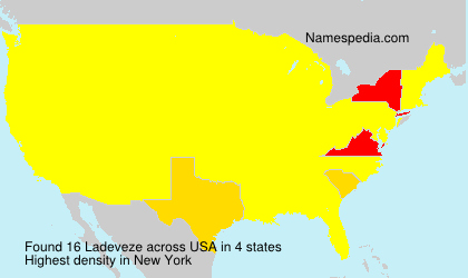 Surname Ladeveze in USA