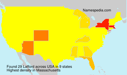 Surname Lafford in USA