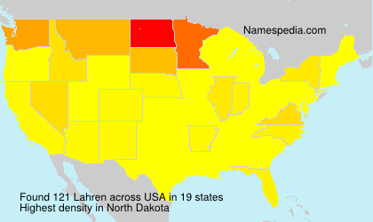 Surname Lahren in USA