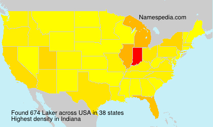 Surname Laker in USA