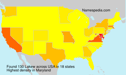 Surname Lakew in USA