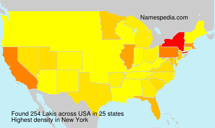 Surname Lakis in USA