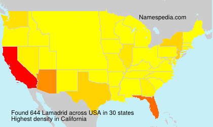 Surname Lamadrid in USA