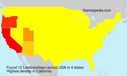 Surname Lambrechtsen in USA