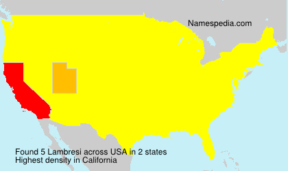 Surname Lambresi in USA