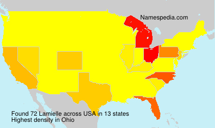 Surname Lamielle in USA