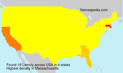 Surname Lamoly in USA