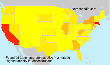 Surname Lanchester in USA