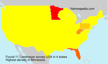Surname Landmeyer in USA