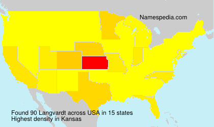 Surname Langvardt in USA
