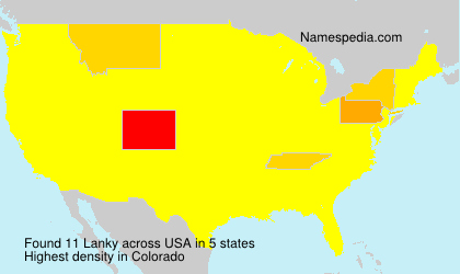 Surname Lanky in USA