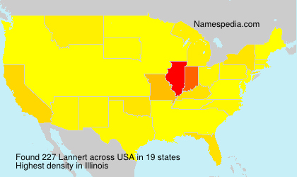 Surname Lannert in USA
