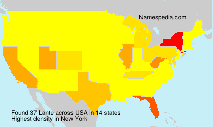 Surname Lante in USA