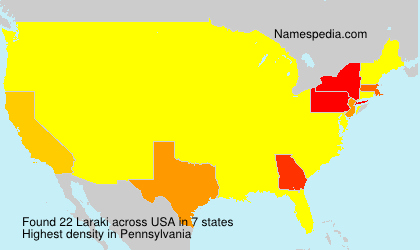 Surname Laraki in USA