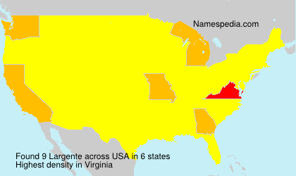 Surname Largente in USA