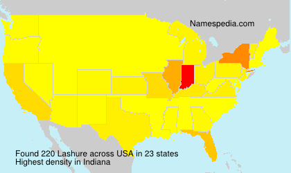 Surname Lashure in USA