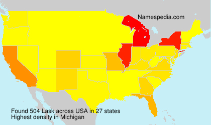 Surname Lask in USA