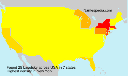 Surname Lasofsky in USA