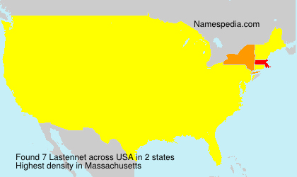 Surname Lastennet in USA