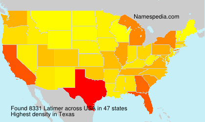 Surname Latimer in USA