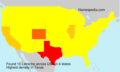 Surname Latrache in USA