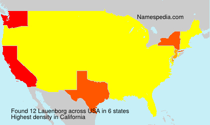 Surname Lauenborg in USA