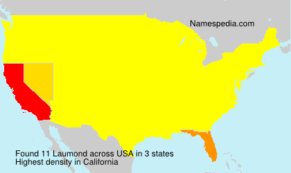 Surname Laumond in USA