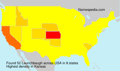 Surname Launchbaugh in USA