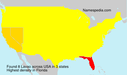 Surname Lavao in USA
