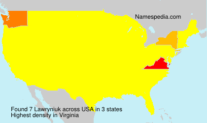 Surname Lawryniuk in USA