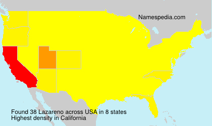 Surname Lazareno in USA