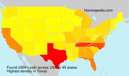 Surname Leath in USA