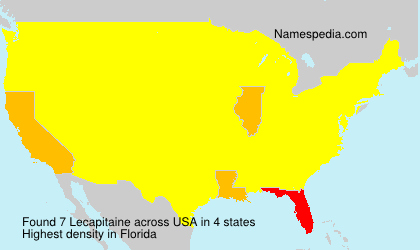 Surname Lecapitaine in USA