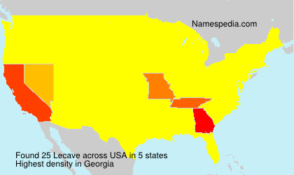 Surname Lecave in USA