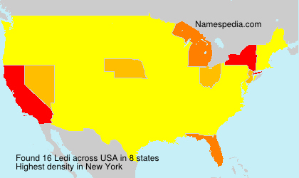 Surname Ledi in USA